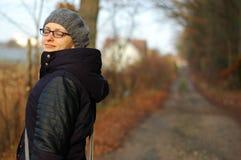 Höstjungkvinna Royaltyfri Foto