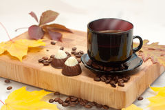 Höstkopp av kaffe Royaltyfria Foton