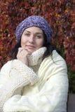 höstkvinna Royaltyfria Bilder