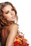 Höstkvinna. Royaltyfria Bilder
