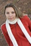 höstkvinna arkivfoton