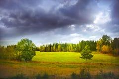 Höstlandskap fotografering för bildbyråer