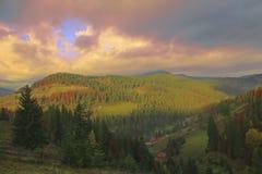 Höstlandskap av kullen Royaltyfri Foto