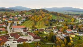Höstlandskap av Weitra, Österrike Arkivfoton