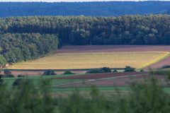 Höstlandskap i Bayern Arkivfoton