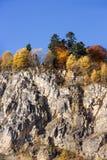 Höstlandskap i bergen av Lago-Naki Arkivbilder