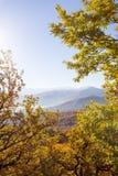 Höstlandskap i bergen av Lago-Naki Fotografering för Bildbyråer