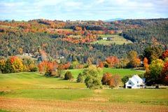 Höstlandskap i lantliga Vermont Royaltyfria Foton