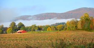 Höstlandskap i lantliga Vermont Arkivfoton