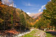Höstlandskap Kaukasus Arkivfoton