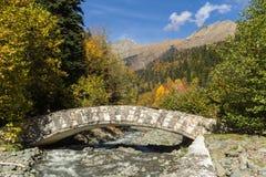 Höstlandskap Kaukasus Arkivbild