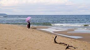 Höstlandskap på Östersjön Arkivfoton