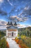 Höstlandskap - Sihastria, Rumänien Arkivfoton