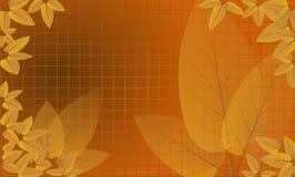 HöstLeaves inramninde raster 2 stock illustrationer