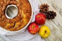 Höstlig äppelpaj Arkivbilder