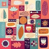 Höstlig dekorativ bakgrund Arkivfoton