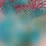 Höstlig filial av trädet på abstrakt turkosbakgrund Royaltyfri Foto