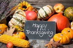 Höstlig stilleben för tacksägelsedag arkivbild