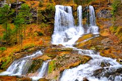 höstlig vattenfall Royaltyfri Foto