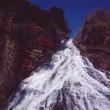 höstlig vattenfall Royaltyfri Fotografi