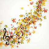 Höstliga MusicDesign Royaltyfri Foto