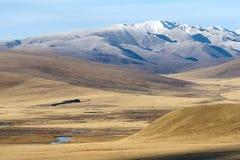 Höstligt höglands- landskap royaltyfria bilder