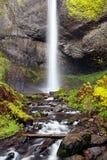 höstoregon vattenfall arkivfoto