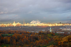 Höstpanorama av Moscow Royaltyfri Fotografi