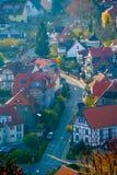 Höstpanorama i staden Wernigerode Royaltyfri Bild