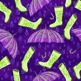 Höstregnmodell Royaltyfri Foto