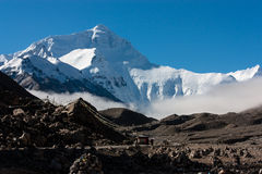Höstsäsong Everest, Tibet Royaltyfri Fotografi