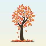 Höstsäsongträd stock illustrationer
