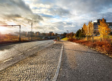 Höstsikt från Vantaa Finland Arkivfoto