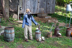 Höstskärm av en scarecrow Royaltyfria Foton