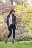 höstskogkvinnor Royaltyfria Foton