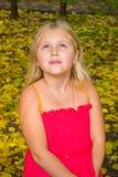 Höststående av en flicka royaltyfria bilder