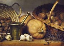 Höststillebengrönsaker Arkivfoto