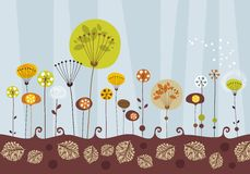 Höstträdgård royaltyfri illustrationer