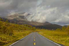 Höstväg Fotografering för Bildbyråer