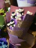 Hötorgskonst Teddy Bear Bouquet i Shanghai, Kina Royaltyfri Fotografi