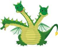 Hövdad drake gulliga tre Royaltyfri Fotografi