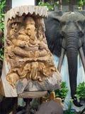 Hövdad gud för skulpturelefant Fotografering för Bildbyråer