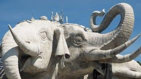 hövdad staty tre för elefant Arkivbilder