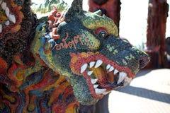 3 hövdade Dragon Canine Colorful Thai Fotografering för Bildbyråer