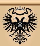 hövdat heraldiskt för dubbel örn Arkivfoton