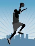 Húmido do basquetebol (streetball) ilustração stock