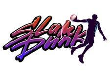 Húmido do Slam do basquetebol ilustração royalty free