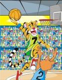 Húmido do tigre ilustração do vetor