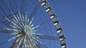 Húngaro Budapest Ferris Wheel almacen de metraje de vídeo