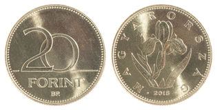 Húngaro moneda de 20 forint fotos de archivo libres de regalías
